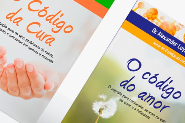 """Capas """"O Código da Cura""""  e  """"O Código do Amor"""" . Editora Best Seller"""